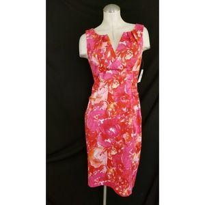 London Times Size 10 Sheath Dress Sleeveless